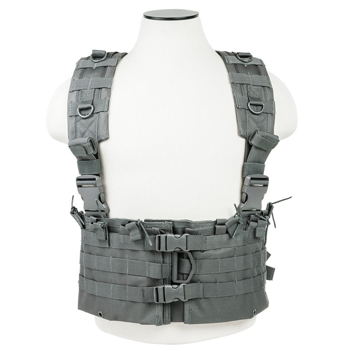 VISM by NcSTAR CVARCR2922U AR CHEST RIG/URBAN GRAY