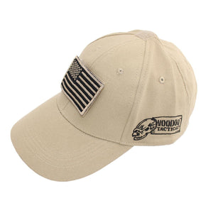 Voodoo Tactical 20-935125000 Cap With Removable Flag Patch Sand