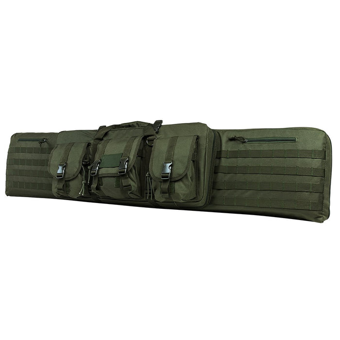 "VISM by NcSTAR CVDC2946G-46 DELUXE DOUBLE RIFLE CASE (46""L X 13""H)/ GREEN"