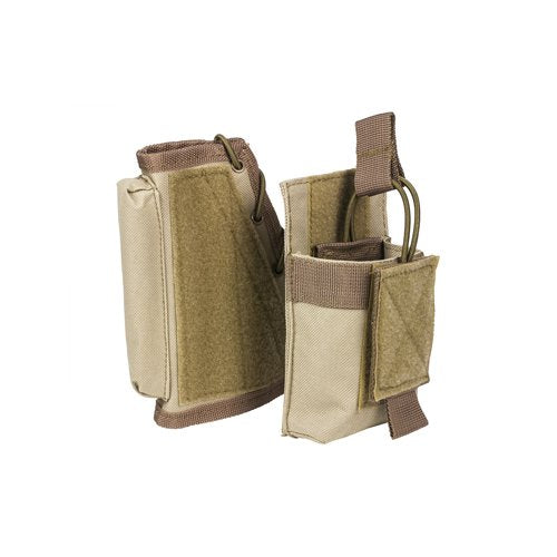 VISM by NcSTAR CVSRMP2925T STOCK RISER WITH MAG POUCH/TAN