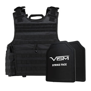 "LEVEL III+ VISM by NcSTAR BPLCVPCVXL2963B-A EXPERT PLATE CARRIER VEST (2XL+) WITH 11""X14"" LEVEL III+ SHOOTERS CUT 2X HARD BALLISTIC PLATES/ EXTRA LARGE/BLACK"