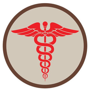 GPS Survival Medical & Morale Patches EMS Round KHAKI