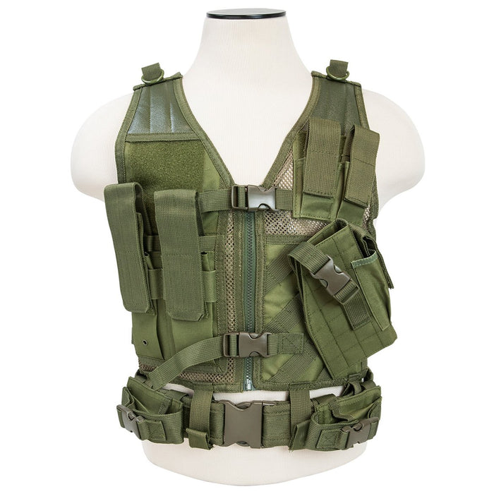 VISM by NcSTAR CTVC2916G TACTICAL VEST/GREEN XS-S