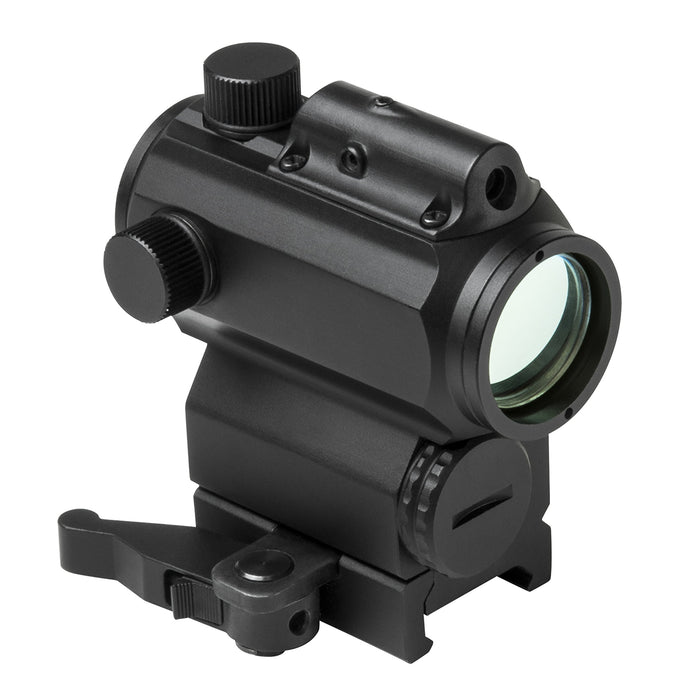"VISM by NcSTAR VDBRGLB 1.7""H 30MM MICRO BLUE & RED DOT REFLEX OPTIC WITH GREEN LASER/ LOCKING QUICK RELEASE MOUNT/ BLACK"