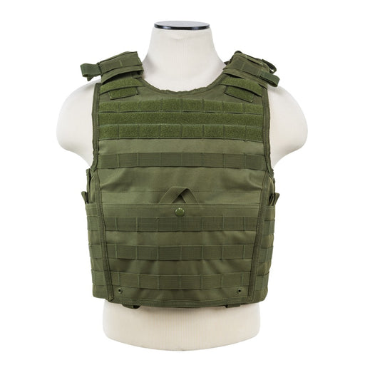 "VISM by NcSTAR CVPCVX2963G EXPERT PLATE CARRIER VEST (UP TO 11""x14"" ARMOR PLATE POCKET)/LARGE/GREEN"