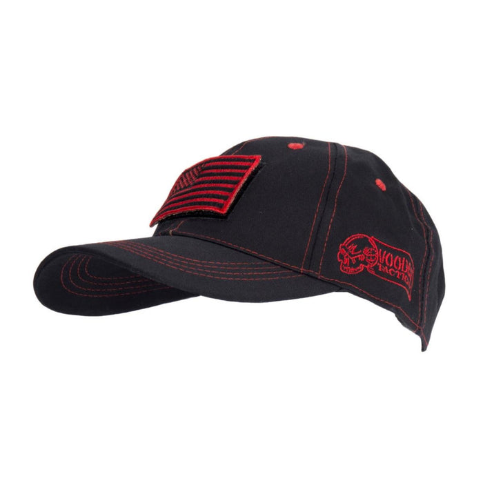 Voodoo Tactical 20-9352086000 Cap With Removable Flag Patch Red/Black