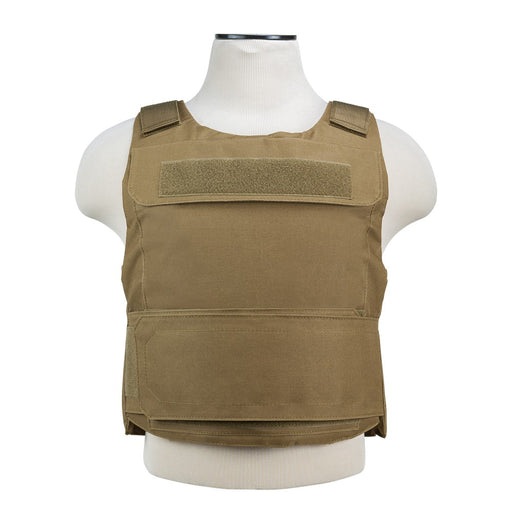 "VISM by NcSTAR CVPCVD2975T DISCREET PLATE CARRIER (UP TO 11""x14"" ARMOR PLATE POCKET)/ FITS: MED-2XL/ TAN"