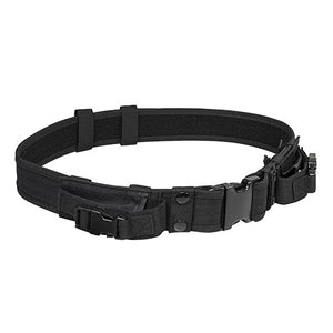 "VISM by NcSTAR CVBLT2978B 2"" TATICAL BELT WITH TWO POUCHES/ BLACK"