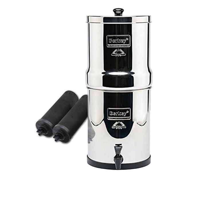 Big Berkey 2.25 Gal. Water Purifier With Black Berkey Filters FREE SHIPPING