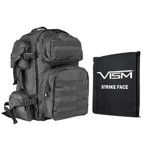 "LEVEL IIIA VISM by NcSTAR BSCBU2911-A TACTICAL BACKPACK WITH 10""x12"" LEVEL IIIA SOFT BALLISTIC PANEL/ URBAN GRAY"