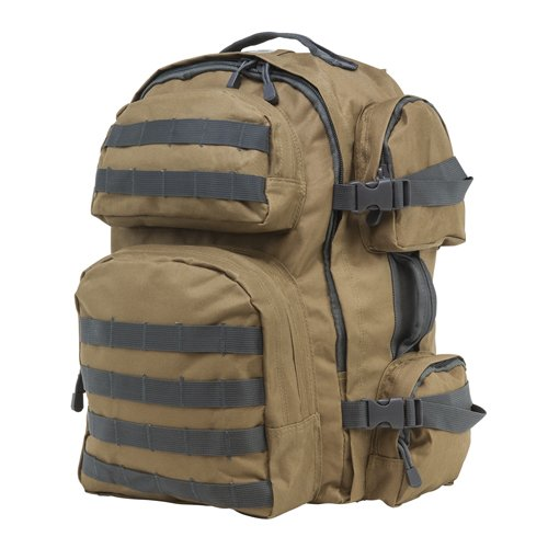 VISM by NcSTAR CBTU2911 TACTICAL BACKPACK/TAN WITH URBAN GRAY TRIM