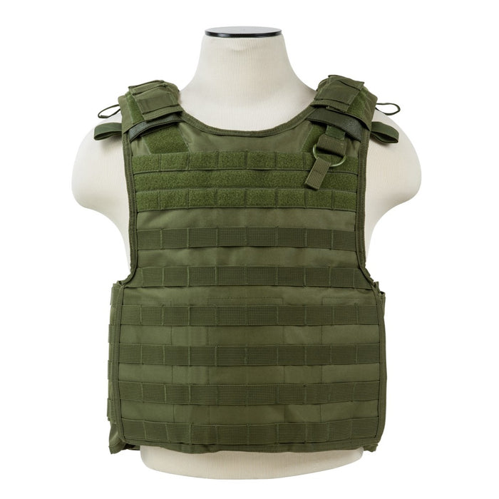 "VISM by NcSTAR CVPCVQR2964G QUICK RELEASE PLATE CARRIER VEST (UP TO 11""x14"" ARMOR PLATE POCKET)/GREEN"