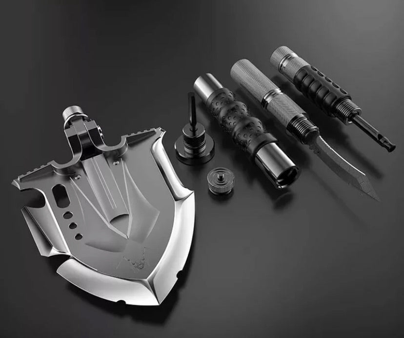 Zune Lotoo Annihilate F-A3 Multi Tool Survival Shovel disassembled