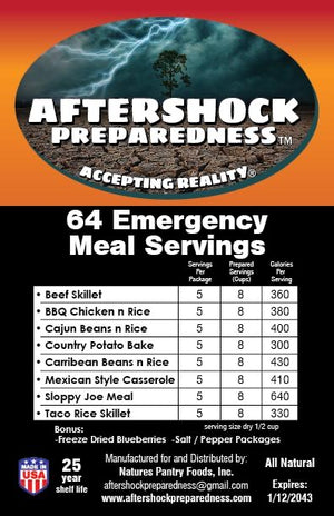 Aftershock Emergency Meal 30 Package Kit