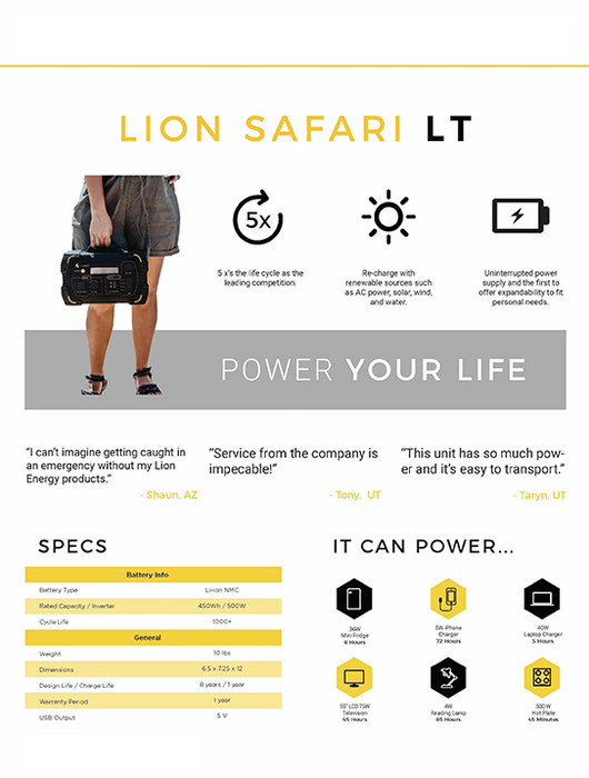 Lion Safari LT Generator Bundle