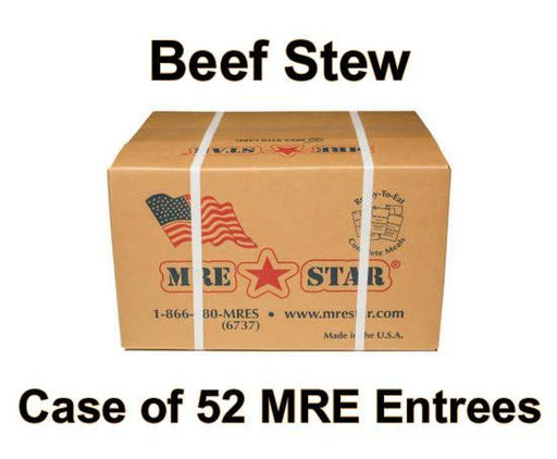MRE Star Case of 52 Beef Stew with Vegetables Entrees - BE-102C