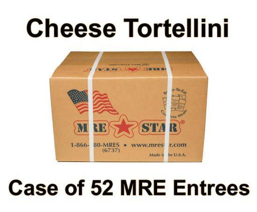 MRE Star Case of 52 Cheese Tortellini with Marinara Sauce Entrees - VE-301C