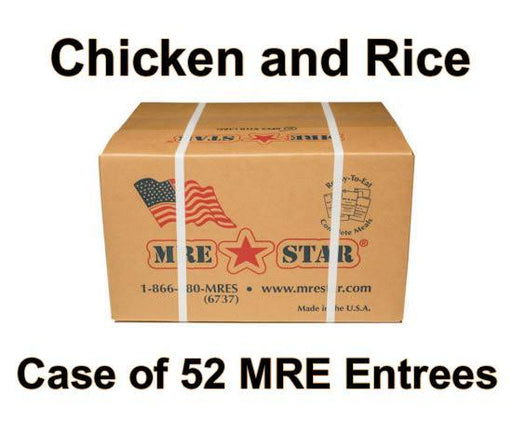 MRE Star Case of 52 Chicken & Rice with Vegetables Entrees - CE-203C