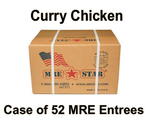 MRE Star Case of 52 Curry Chicken with Rice, Vegetables & Lentils Entrees - CE-206C