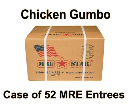 MRE Star Case of 52 New Orleans Chicken Gumbo Entrees - CE-204C