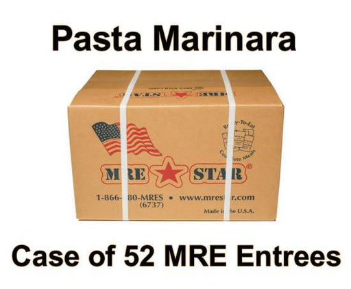 MRE Star Case of 52 Pasta Marinara with Veggie Crumbles Entrees - VE-303C