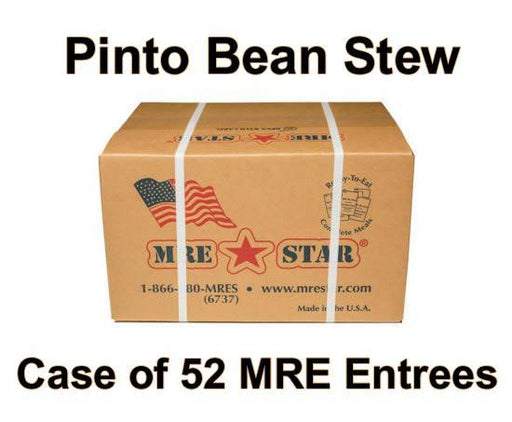 MRE Star Case of 52 Pinto Bean Stew with Ham Entrees - HM-301C