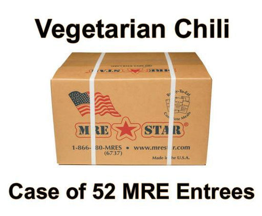 MRE Star Case of 52 Spicy Vegetarian Chili with Beans Entrees - VE-302C