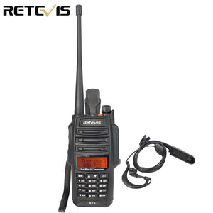 Waterproof IP67 Retevis RT6 Walkie Talkie 5/3/1W VHF+UHF136-174+400-520Mhz Ham Radio Hf Transceiver Two Way Radio A9114A
