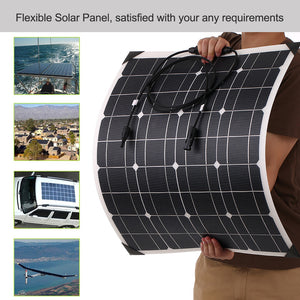50W 18V ETFT Honeycomb Surface 25% High Conversion Rate Flexible Monocrystalline Silicon Solar Panels