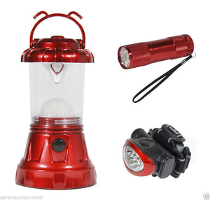 SE FL806-3RR 3 PC Camping Light Set