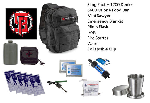 GPS Survival Emergency Kit For Every Day Carry Black