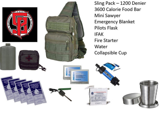 GPS Survival Emergency Kit For Every Day Carry OD Green