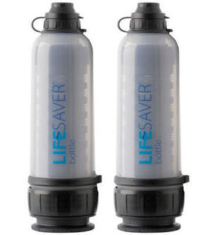 2 Pack LifeSaver 6000UF Water Filtration Bottles FREE SHIPPING