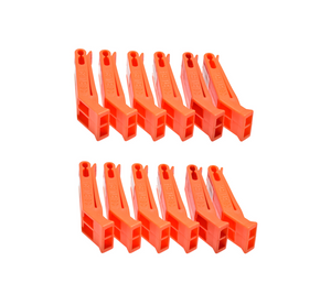 SE WH36 12 Pack Orange Floating Whistles with Clip