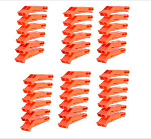 SE WH36 36 Pack Orange Floating Whistles with Clip