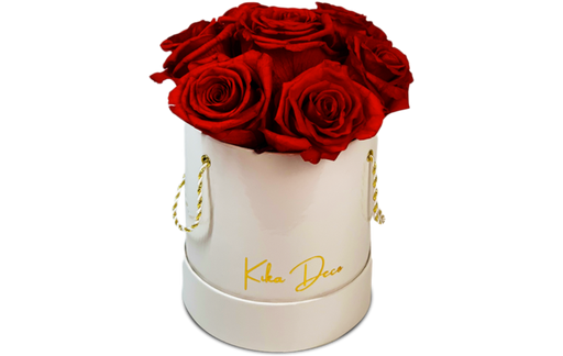 Round Boxes Small 8-9 Preserved Roses - KIKA DECO
