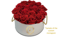 Round Boxes Medium 12-14 Preserved Roses - KIKA DECO