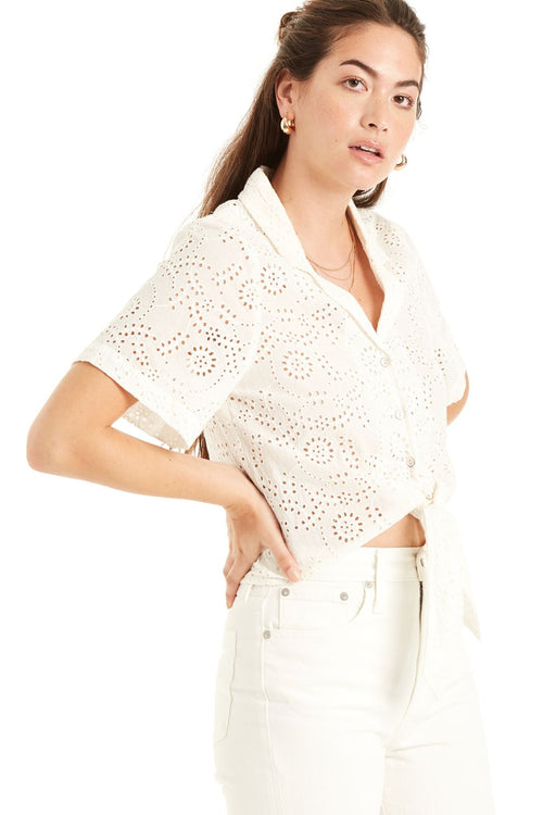California Dreamin' Eyelet Top