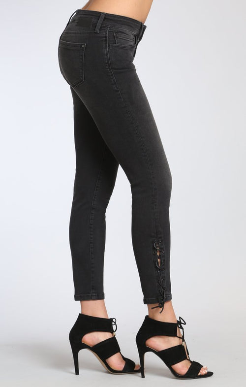 Adrianna Ankle Super Skinny in Smoke Lace