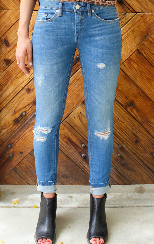 Ripped Ankle Skinny Jean