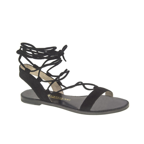 Brea Suede Lace-Up Sandal