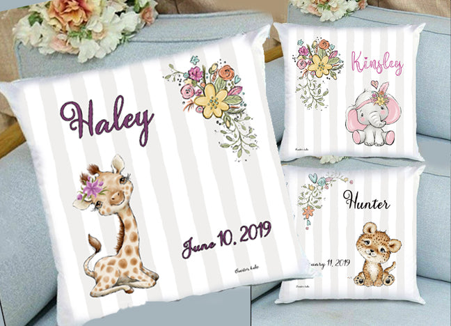 custom baby pillows personalized