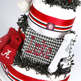 personalized Alabama diaper cake