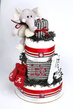 Alabama diaper cake Crimson Tide