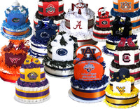 college theme diaper cake collegiate