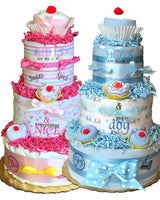 baby diaper cake in pink or blue