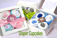 baby shower diaper cupcakes