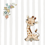 personalized baby gift nursery crib pillow giraffe theme