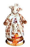 Bearington lil patches giraffe diaper cake baby gift