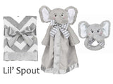 Bearington Lil Spout elephant baby blanket